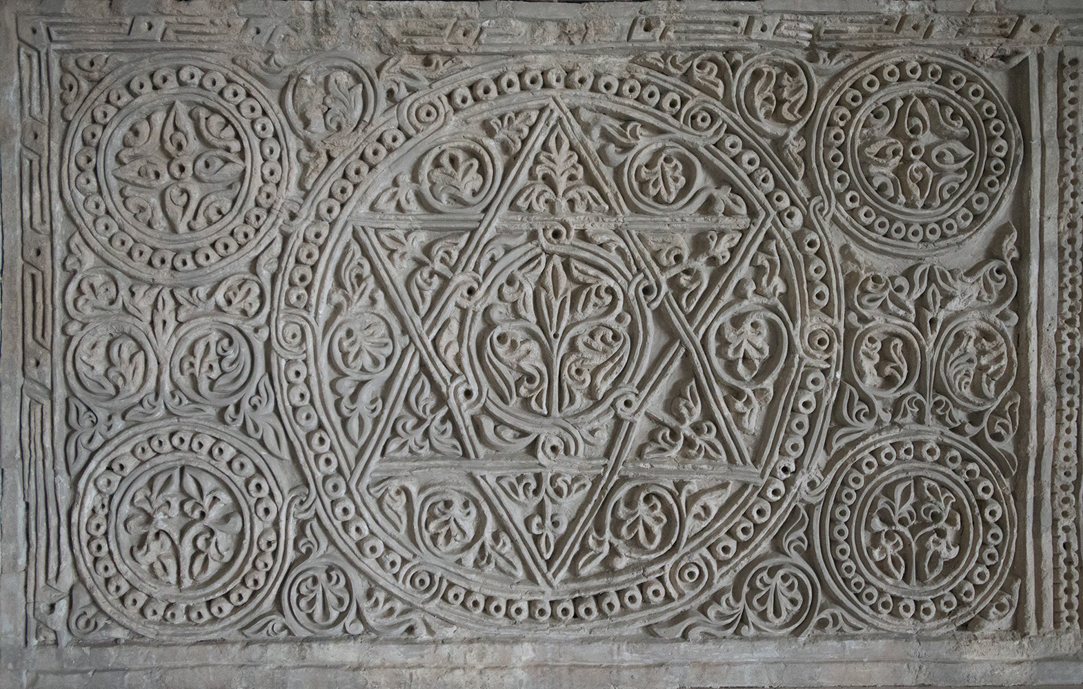 Star of David from a Jewish house in the city. Dated 8th Century.