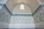 Recently completed restoration work in one of the smaller side mosques in the complex