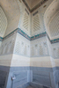 Recently completed restoration work in one of the smaller side mosques in the complex.