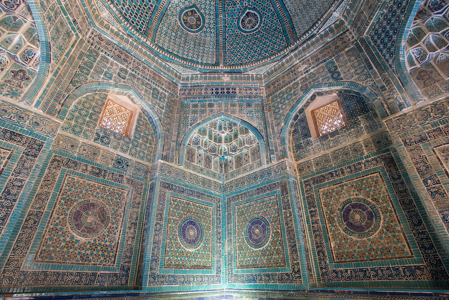 The interior of the mausoleum of Emir Timur's neice, Shadi Mulk Aka. 1372. This was the first Timurid structure constructed here