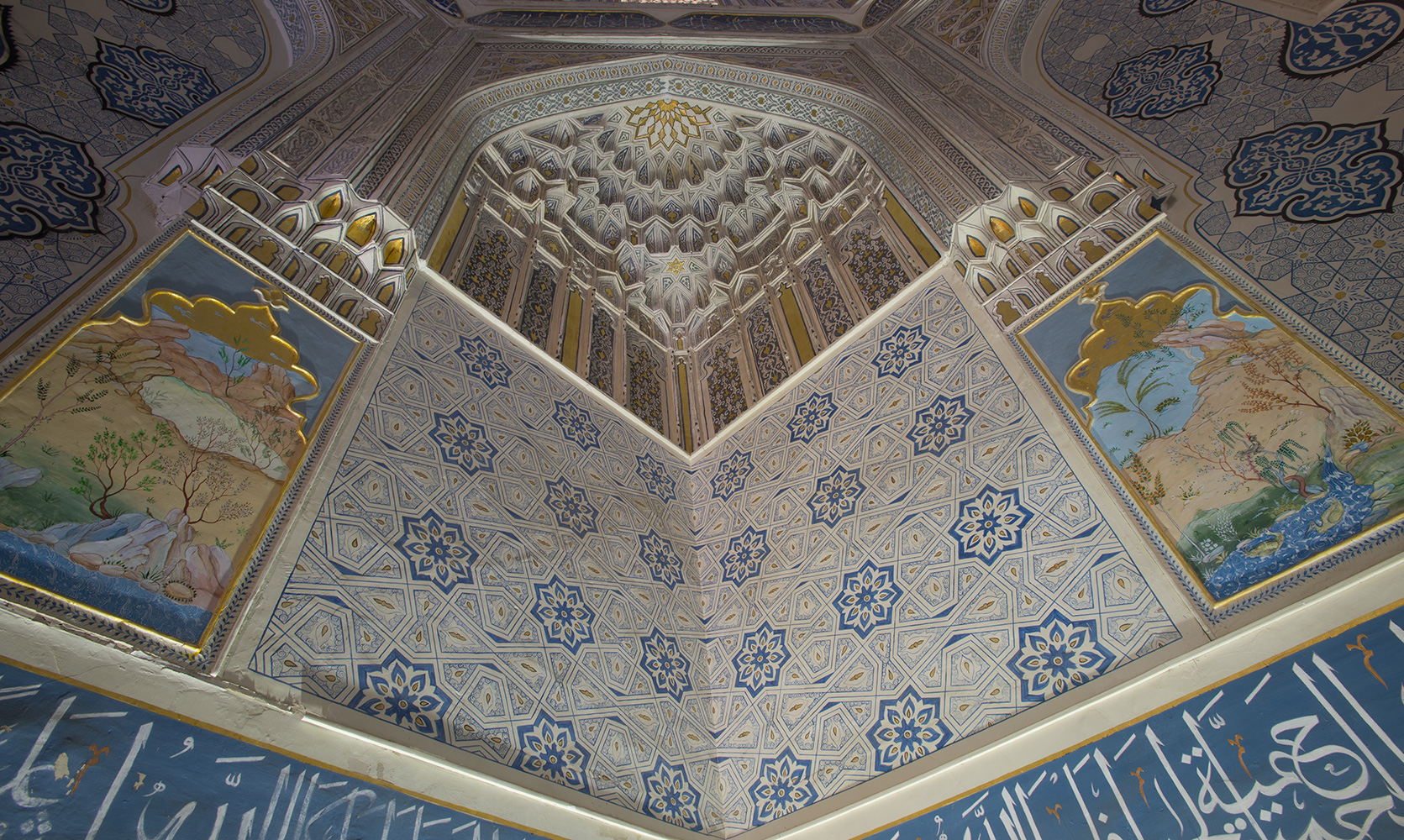The interior of the mausoleum of Emir Timur's neice, Shadi Mulk Aka. 1372. This was the first Timurid structure constructed here.