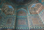 Interior. Mausoleum of Alim Nasafi, 1385.Original tilework