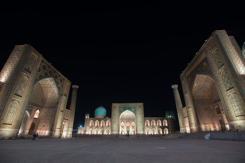 Samarkand - The registan at night
