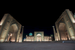 Samarkand - The registan at night