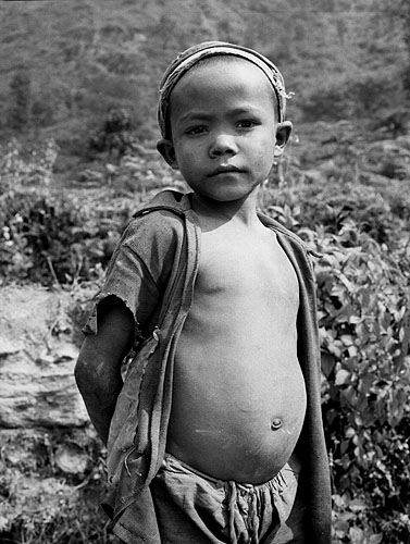 Portrait of a village kid in the Kangchendzonga regionBronica ETRS, 50mm, Ilford HP5 @ 800 ASA