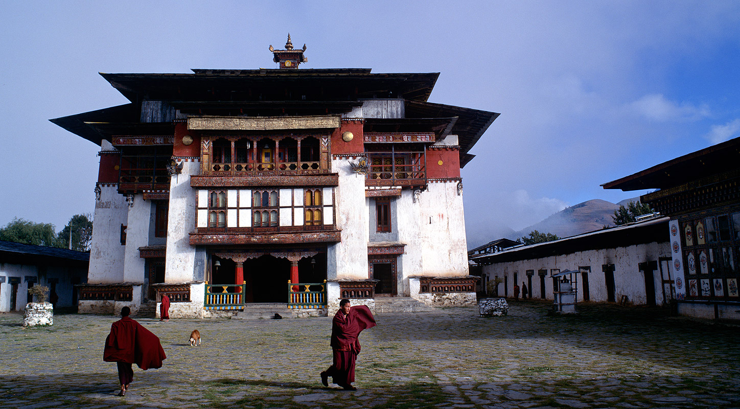 Founded in 1613, this monastery is in the beautiful Phobjikha Valley in the district of Wangde PhodrangBronica ETRSi, 50mm, Fuji Provia