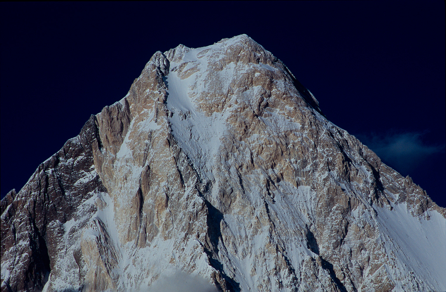 Teephoto of the summit in afternoon light