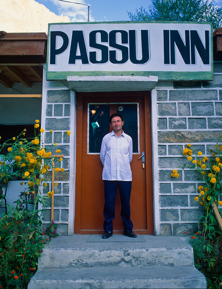 At the door of his hotel in Passu. This wonderful, simple hotel was our stepping off point for trips into the Shimshal region and the Khunjerab national park. Ghulam introduced me to Shambi Khan of Shimshal, for which alone I owe him a huge debt of gratitude.