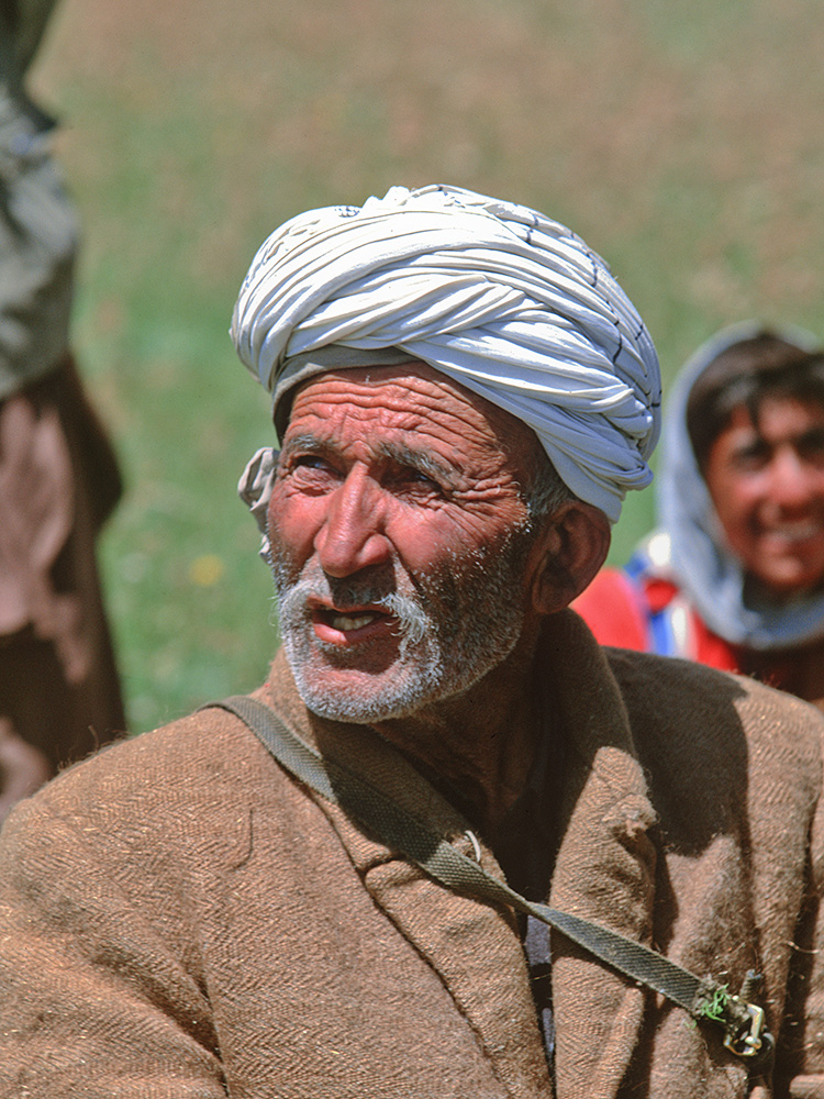 Gohar was a tribal elder of this remote settlement in Upper YarkhunBronica ETRSi, Fuji Velvia