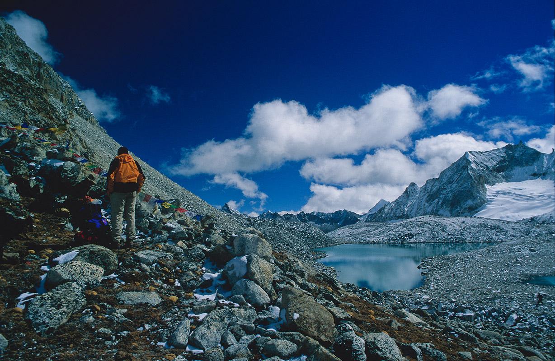 The highest pass on the entire Snowman TrekNikon FM2, 28mm, Fuji Velvia