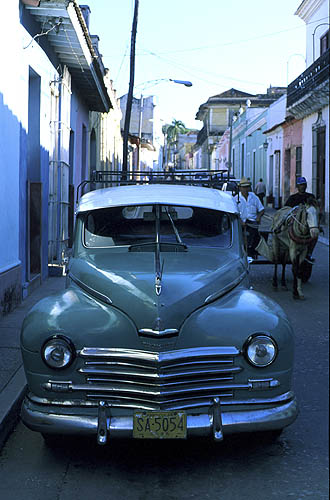 A curious and rather charming side effect of American economic sanctions has been to turn Cuba into a living car museum.Nikon FM2, 24mm, Fuji Velvia