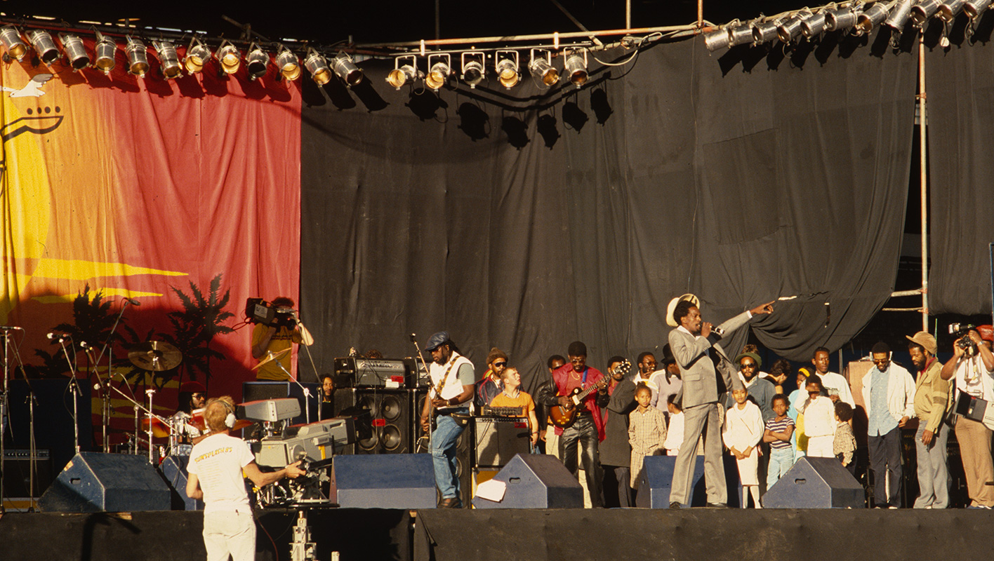 The Cool Ruler on stage at Crystal Palace with Sly and Robbie.Scan from Kodachrome 64