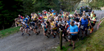 This short (4km / 2.5 mile) but brutal fell race starts from Revelin Moss in Whinlatter Forest Park, near Keswick, Cumbria. This is the start of the race.