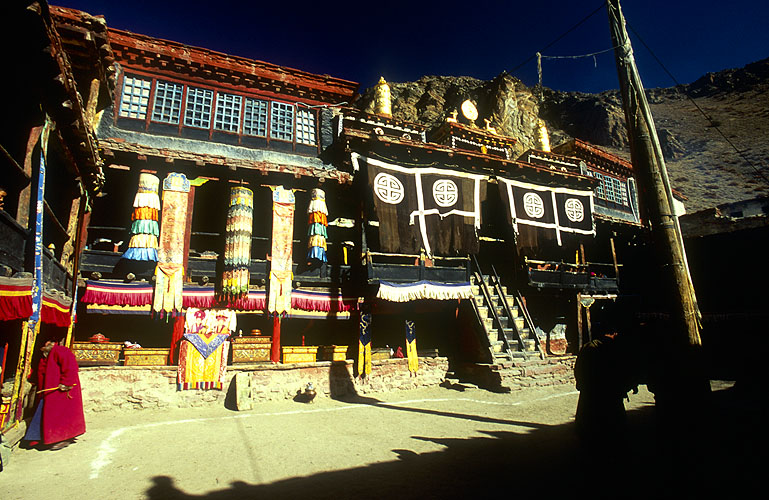 Founded a little over 1000 years ago under the auspices of Tholing in Tibet, this is the most prestigious of all the gompahs (monasteries) in Limi.North-west NepalNikon FM2, 17-35mm, Fuji Velvia 100