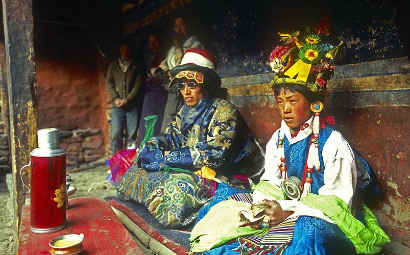 A puja (religious ceremony) in the main courtyard.North-west NepalNikon FM2, 17-25mm, Fuji Velvia 100