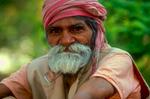 Saddhu - a Hindu holy-manNikon F5, 180mm, Fuji Velvia 100