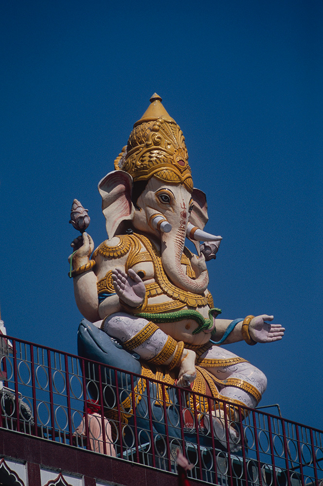 Lord Ganesh on the roof of an ashram
