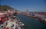 Bathing ghats on the River Ganges
