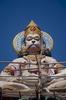 Hanuman on the roof of an ashram