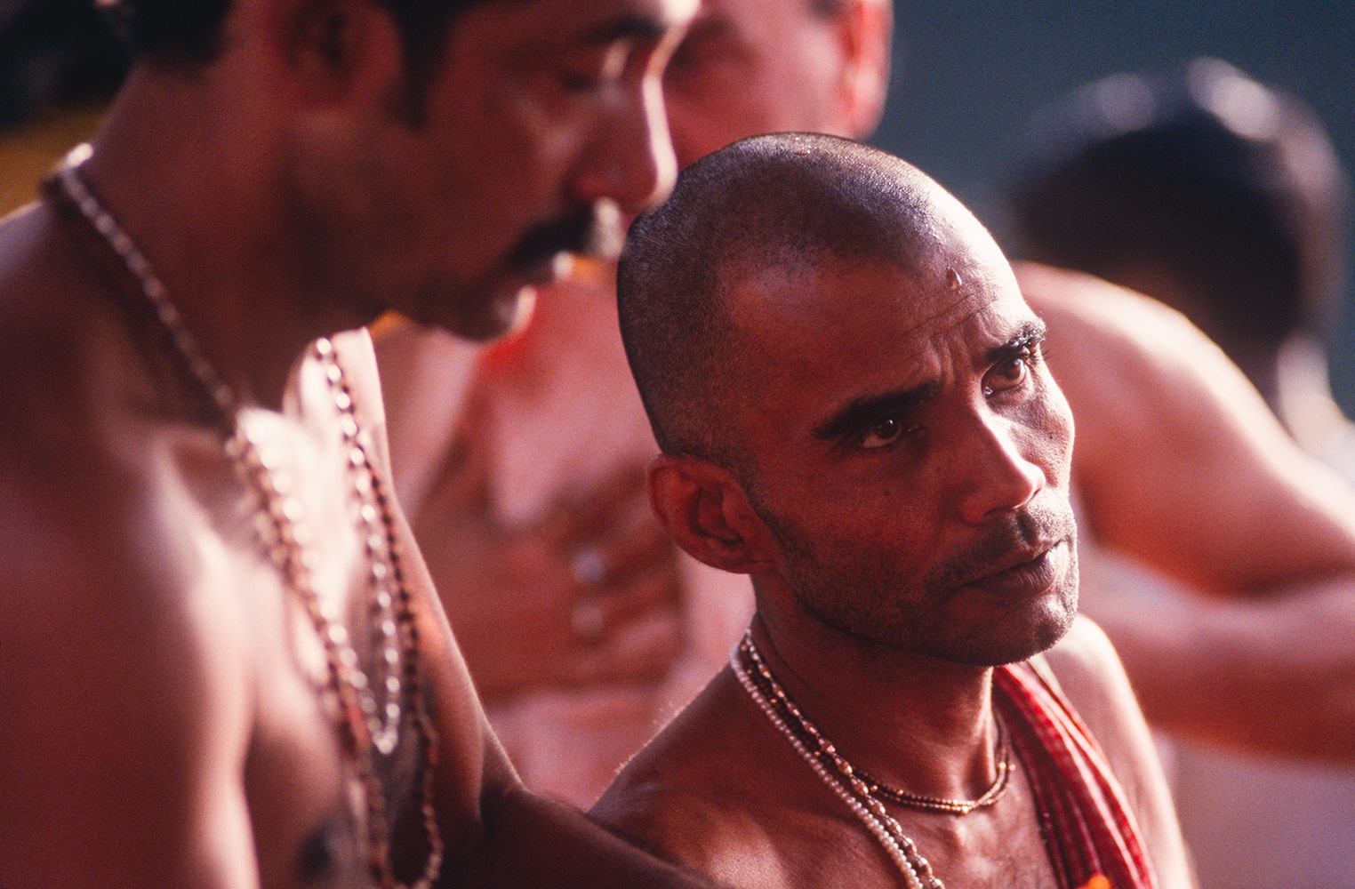 Blessing before ritual bathing in the Ganges