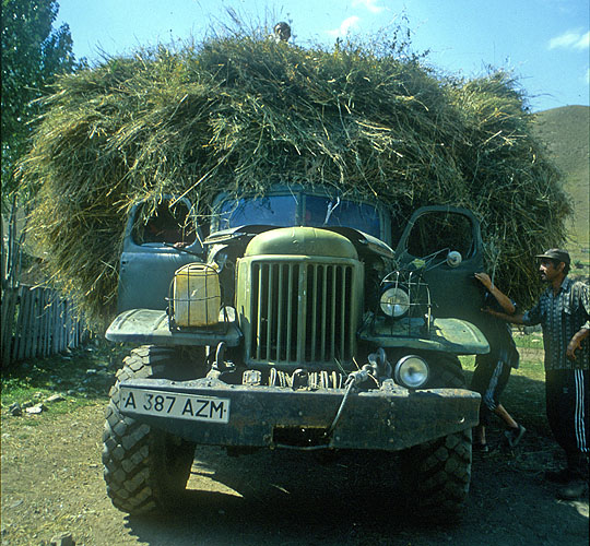 A vintage Russian army Zhil truck serves out its retirement in a Kazakh villageNikon FM2, 24mm, Fuji Velvia