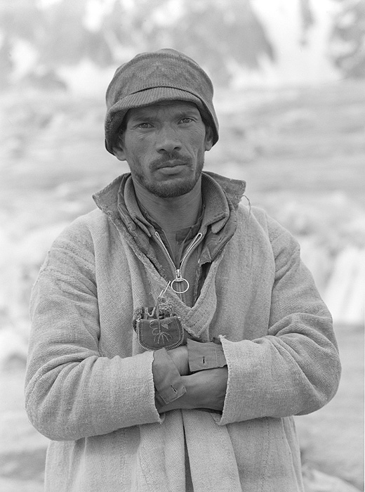 A Balti farmer from Askole on the Biafo Glacier during a trek to cross the Hispar Pass