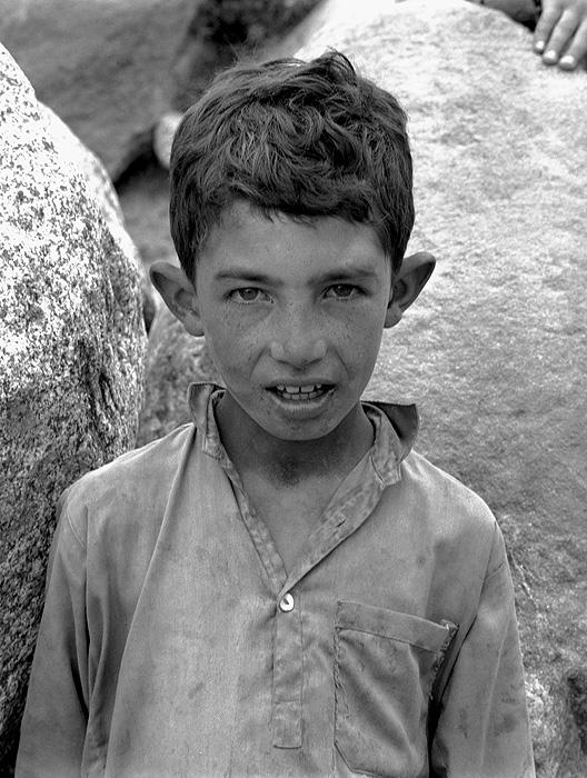 Portrait of a Hispar boy at Hispar Jhola (bridge below the village)Bronica ETRSi, 70mm, Kodak T-Max 400 @ 800ASA