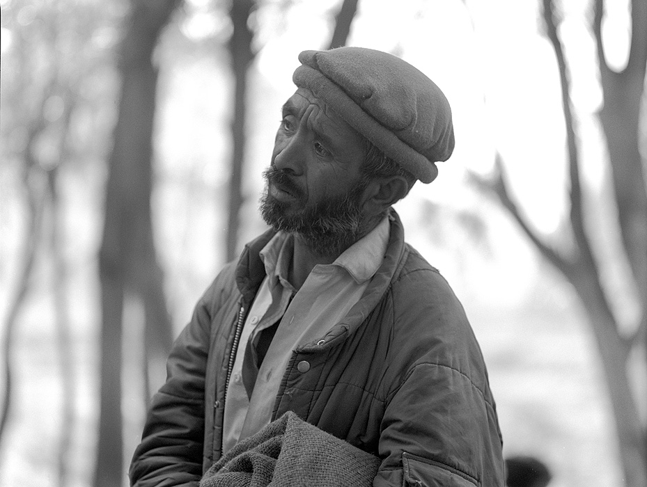 Portrait of a Balti porter at Akole before setting off on trek from Askole to Hunza via the Hispar PassBronica ETRSi, 70mm, Kodak T-Max 400 @ 800ASA
