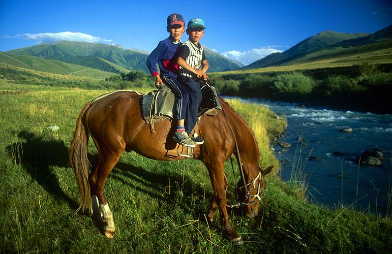 Brothers on horsebackNikon FM2, 24mm, Fuji Velvia
