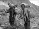 Portrait of two Balti porters on the Gondokoro glacier during an expedition to Gondoro PeakBronica ETRSi, 70mm, Ilford FP4