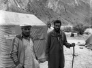 Abdullah Javed (R) and friend on the Gondokoro glacier during an expedition to Gondoro PeakBronica ETRSi, 70mm, Ilford FP4