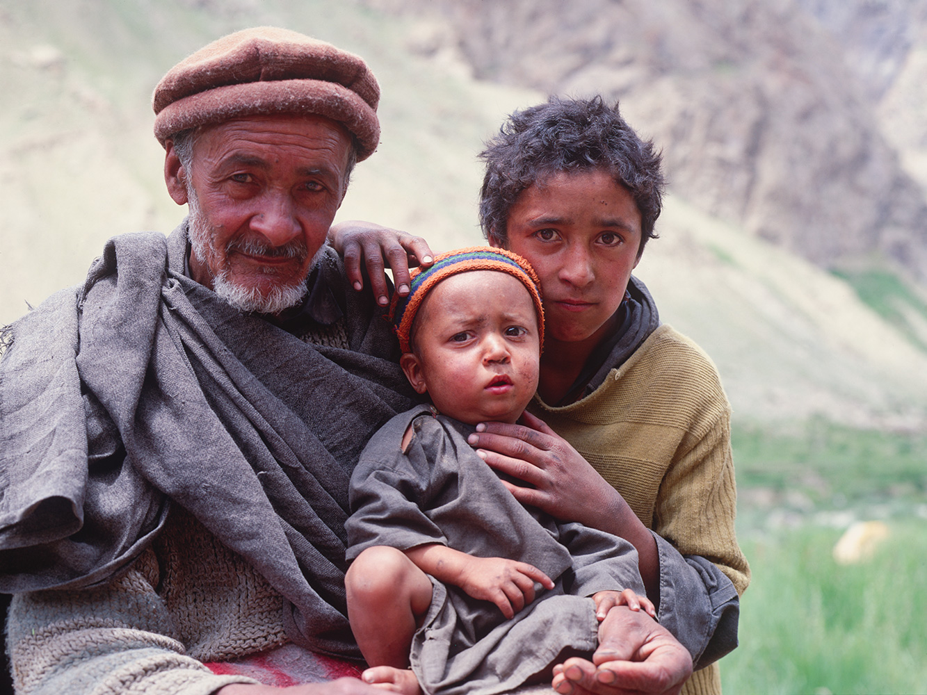 One of our porters from Hushe with his sons