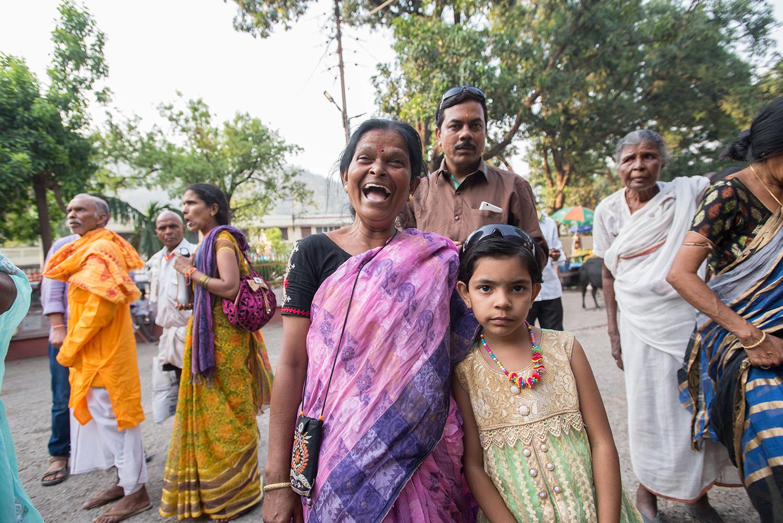 Pilgrim Family at Rishikesh