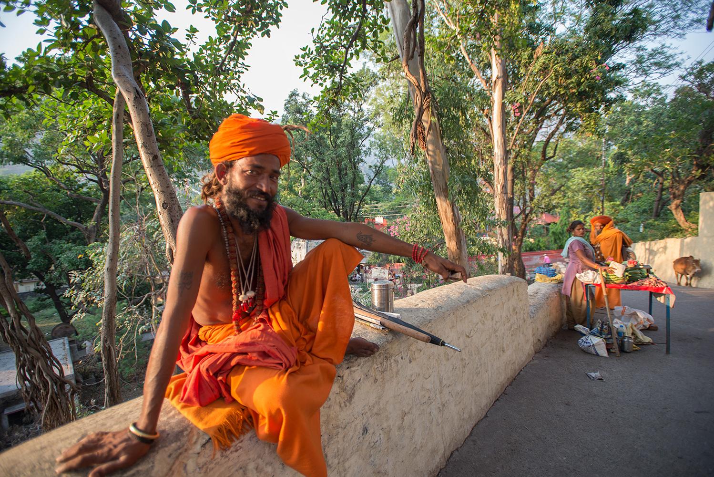 Sadhu at Rishikesh