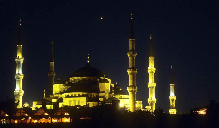 A night view of this beautiful Ottoman buildingNikon F5, Fuji Velvia, 180mm