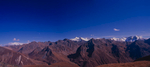 Taken from about 5100m on a ridge above the camp of Jangothang, this is a stitch of three images, looking north and east.Bronica ETRSi, 50mm, Fuji Velvia
