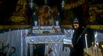 An orthodox priest  in the Church of the Anastasis, JerusalemNikon F5, 17-35mm, Fuji Velvia 100