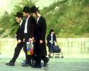 On their way to pray at the Wailing Wall, JerusalemNikon F6, 180mm, Fuji Velvia 100