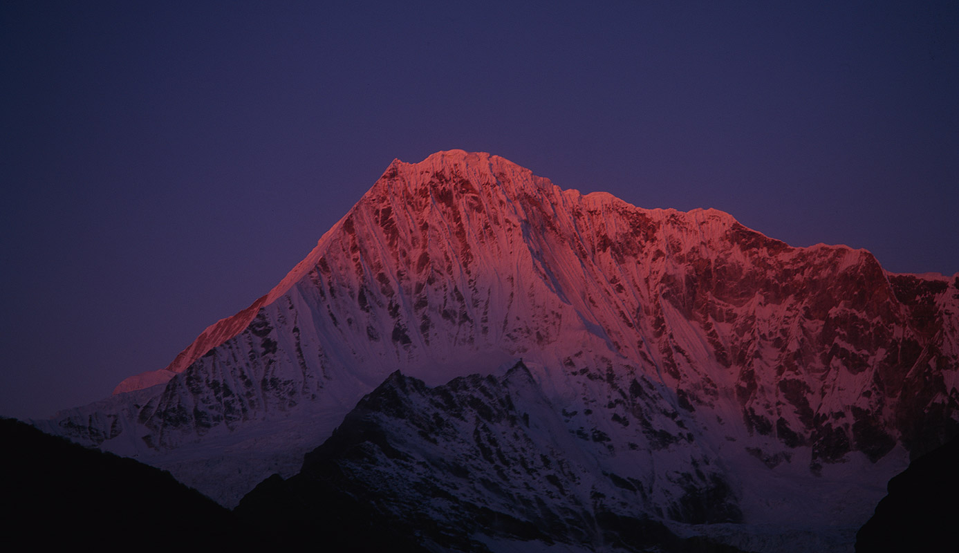 Seen at sunset from Lingshi, BhutanBronica ETRSi, 150mm, Fuji Velvia
