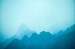 The Himalaya rising into the evening haze, from the road to JoshimathNikon F5, 180mm, Fuji Velvia 100