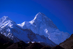 The incredibly spectacular northern aspect of the world's second highest (8611m) peak, from the K2 North glacierNikon FM2, 105mm, Fuji Velvia