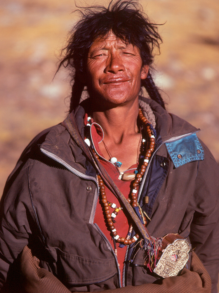 A pilgrim on the Kailas kora - the ritual circumambulation of Mount KailasBronica ETRS, 75mm, Fuji Velvia