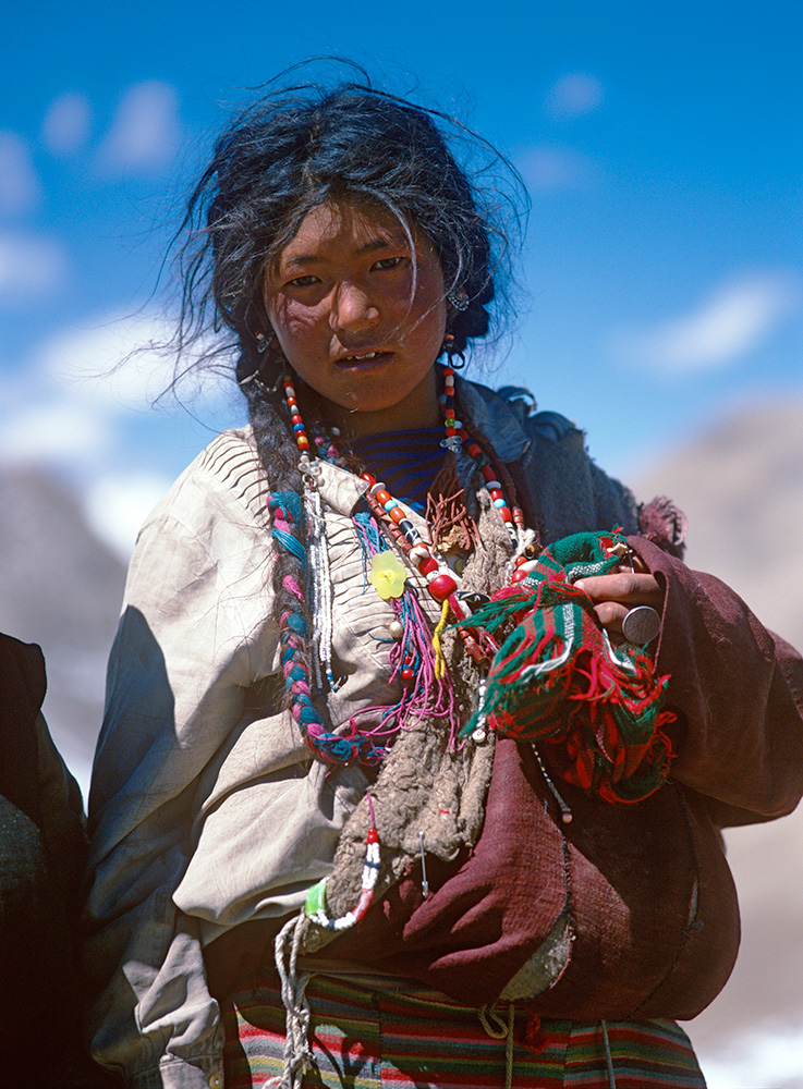 A Tibetan Buddhist pilgrim on the Kailas KoraBronica ETRSi, 75mm, Fuji Velvia