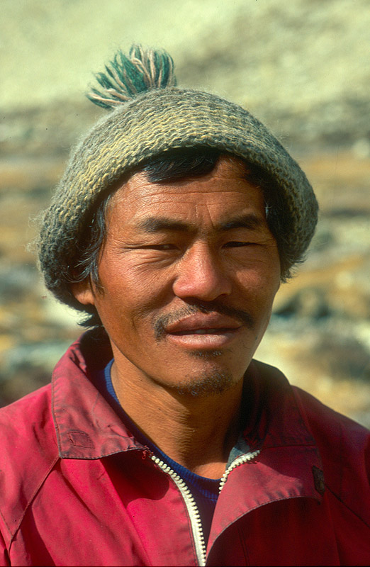 One of our hard-core Kangchendzonga porters!Nikon FM2, 105mm, Fuji Velvia