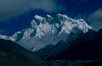 Seen up the Mo Chhu valley from Keche La (4650m) in LunanaNikon FM2, 105mm, Fuji Velvia