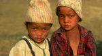Two young boys at Kheswewa village, near Taplejung in eastern Nepal.Nikon FM2, 105mm, Fuji Velvia
