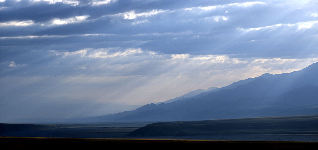 Early morning light in the Tien Shan, from the road between At Bashy and the Torugart PassNikon FM2, 24mm, Fuji Velvia