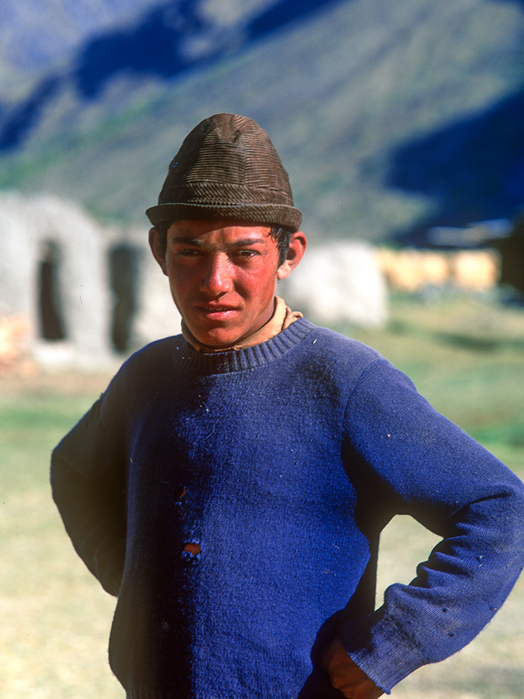 Boy at Kishmanja village, Yarkhun Valley. The Yarkhun is the name given to the upper Chitral river above Mastuj. 