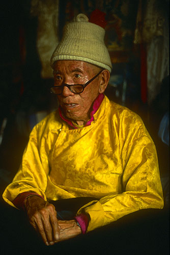 The old lama at Kyanjin in the Langtang Valley.Nikon FM2, 50mm, Fuji Velvia