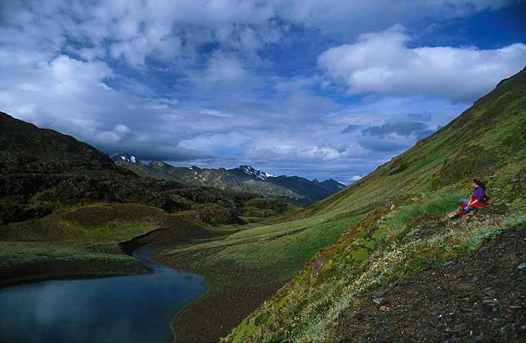 This idyllic lake lies in the valley leading north from Laguna del Caminante into the Sierra ValdeviesoNikon FM2, 24mm, Fuji Velvia